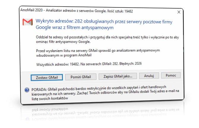 Analizator adresów z serwerów Google