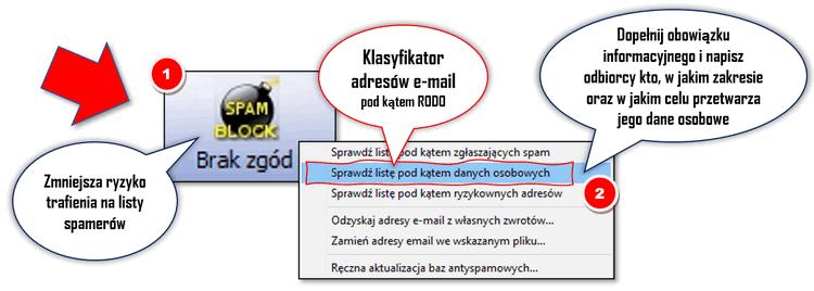 Klasyfikator adresów email RODO