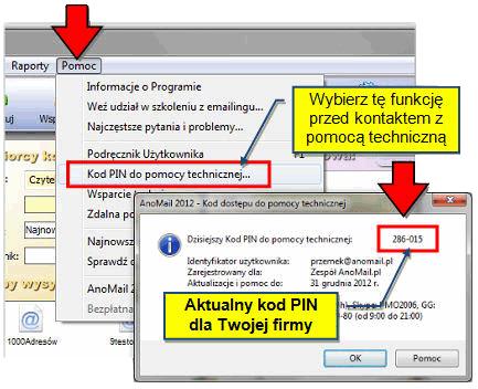 Pomoc techniczna AnoMail