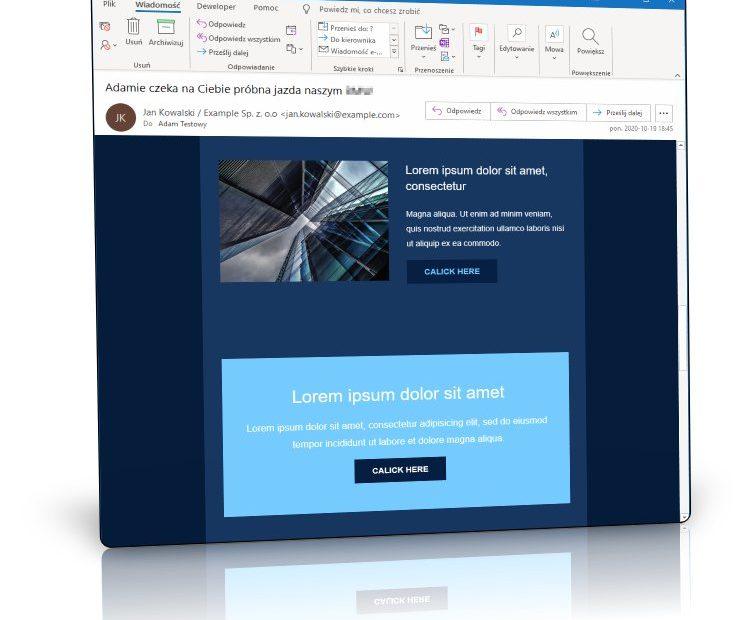 Podgląd w domyślnym programie Outlook