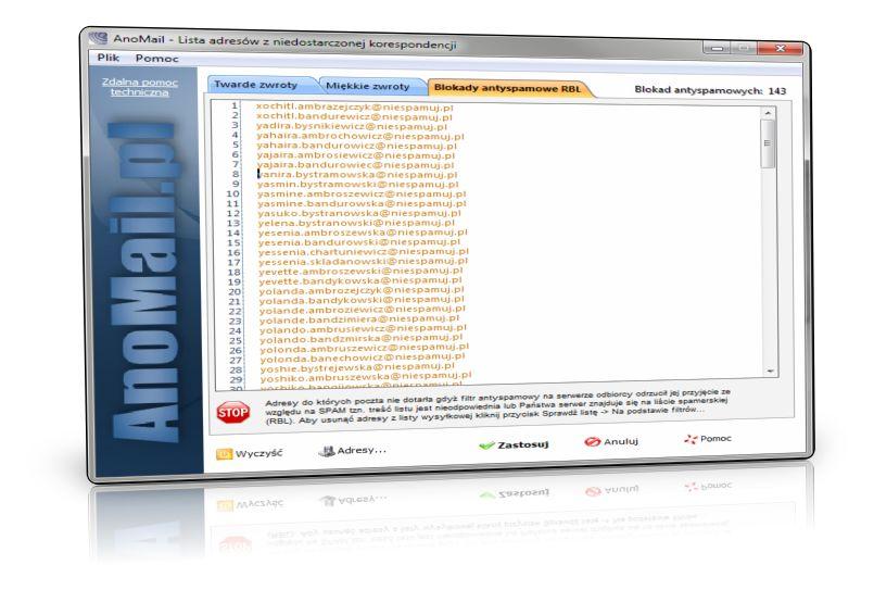 Raporty RBL - kto blokuje przyjęcie mail