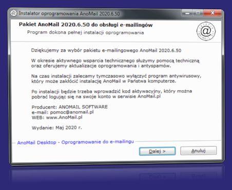 AnoMail wymagania techniczne