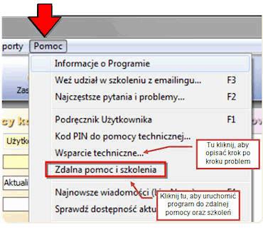 Zdalna pomoc i szkolenia do AnoMail