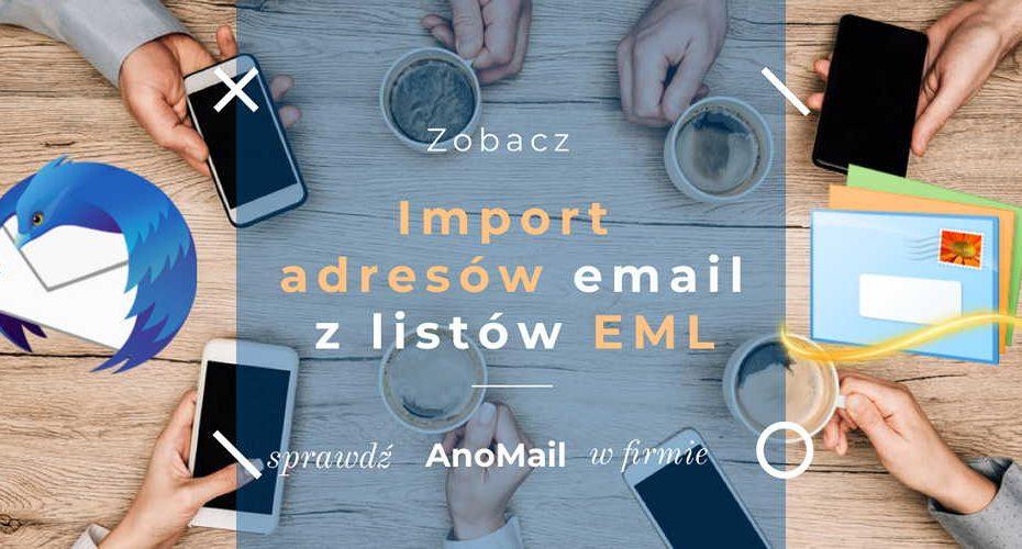 Import adresów z plików EML w AnoMail