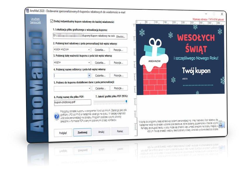 Program do wysyłania kuponów rabatowych
