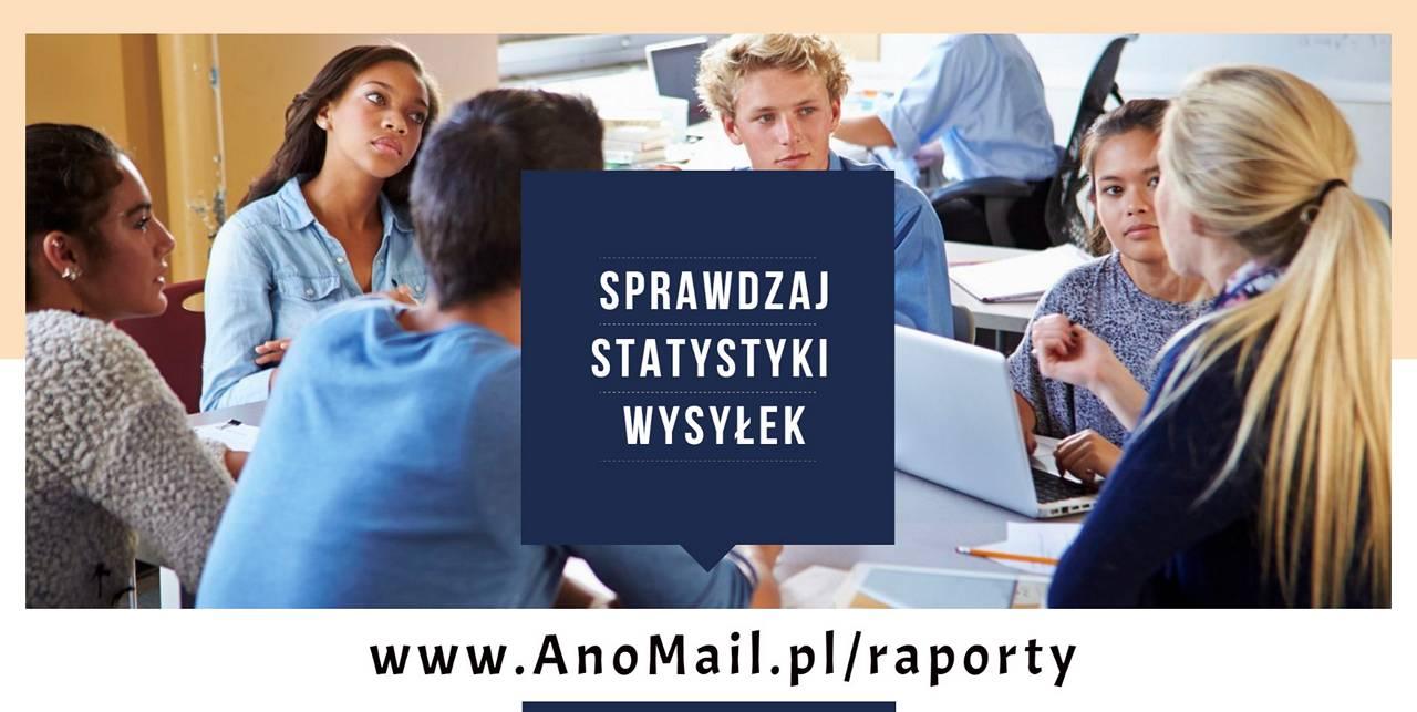Statystyki i raporty AnoMail