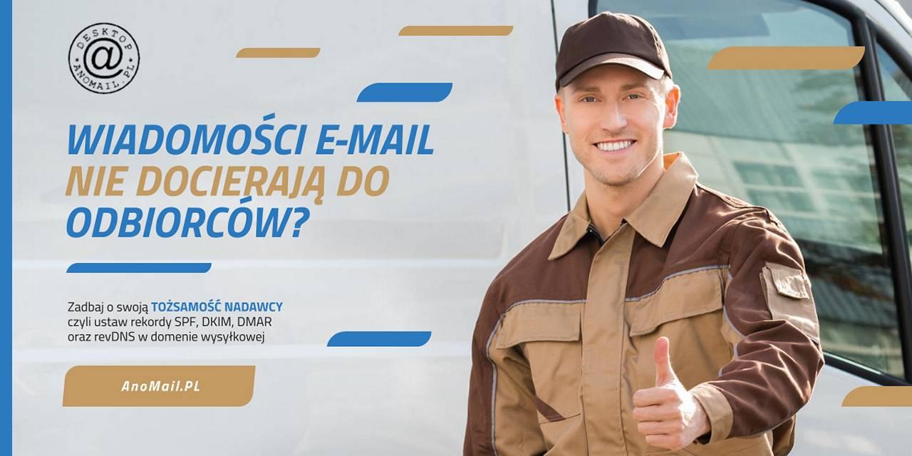 E-maile nie docierają do odbiorców