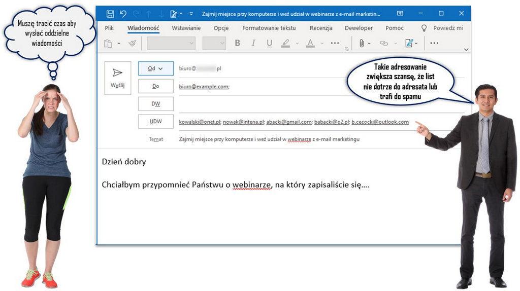 Masowe wysyłanie maili bez użycia UDW